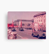 East German Communist Army at Berlin Wall, Celebration Parade - 2 Canvas Print