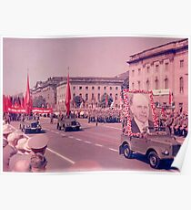 East German Communist Army at Berlin Wall, Celebration Parade - 2 Poster