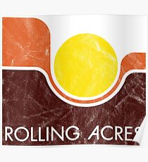 Rolling Acres Mall Vintage 1970 - Distressed Poster