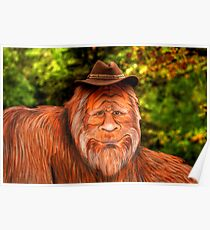 Bigfoot Cowboy Poster