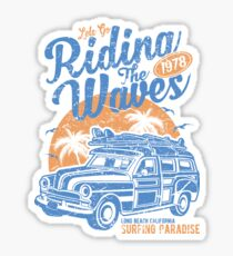 Holiday Car Retro Vintage Sticker