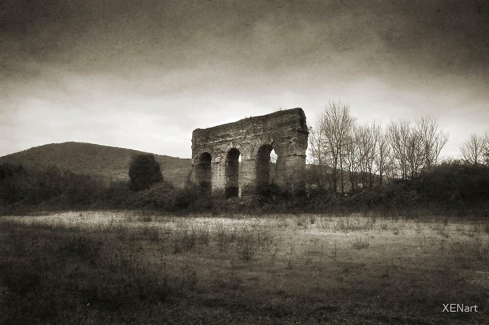 Roman aqueduct by XENart