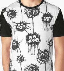 Spiders pattern on white Graphic T-Shirt