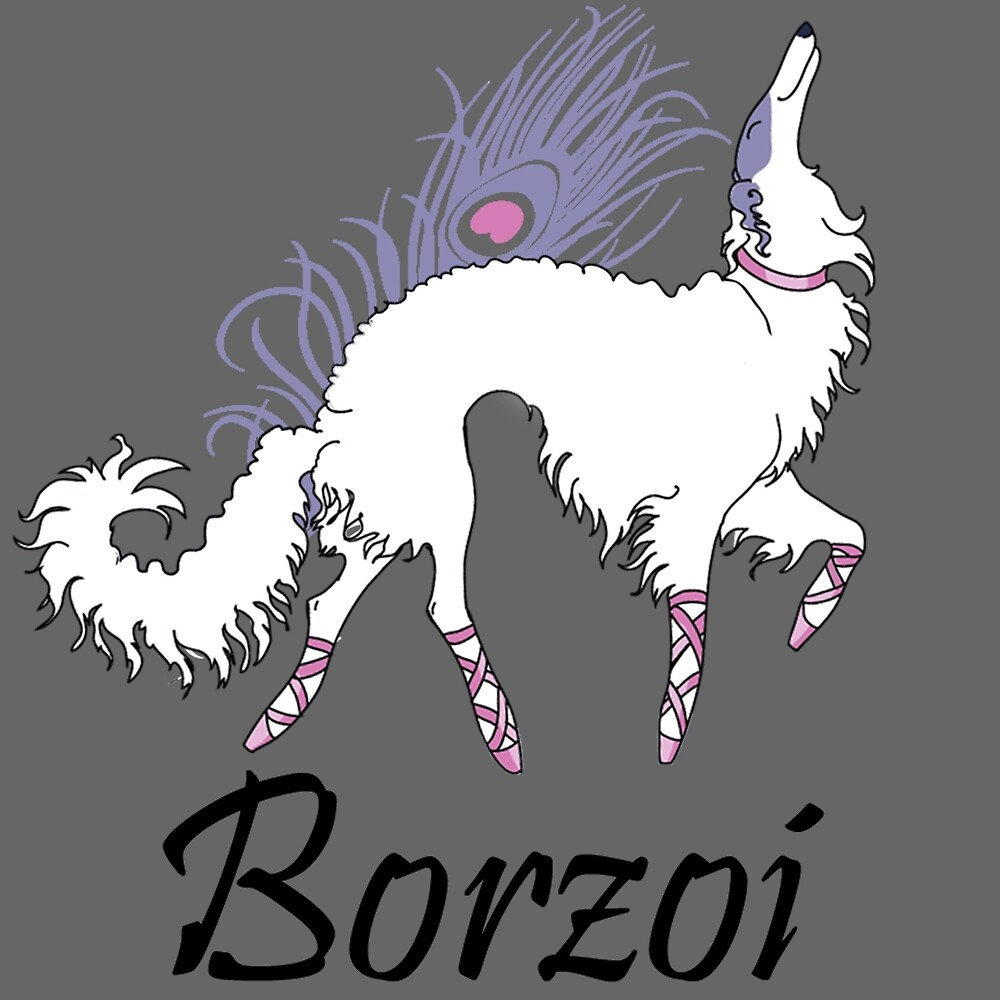 Ballet Borzoi by Happy Dog Swag