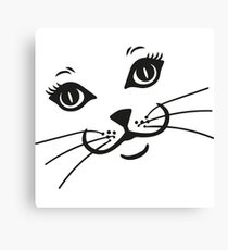 Cat Kitty Face Canvas Print