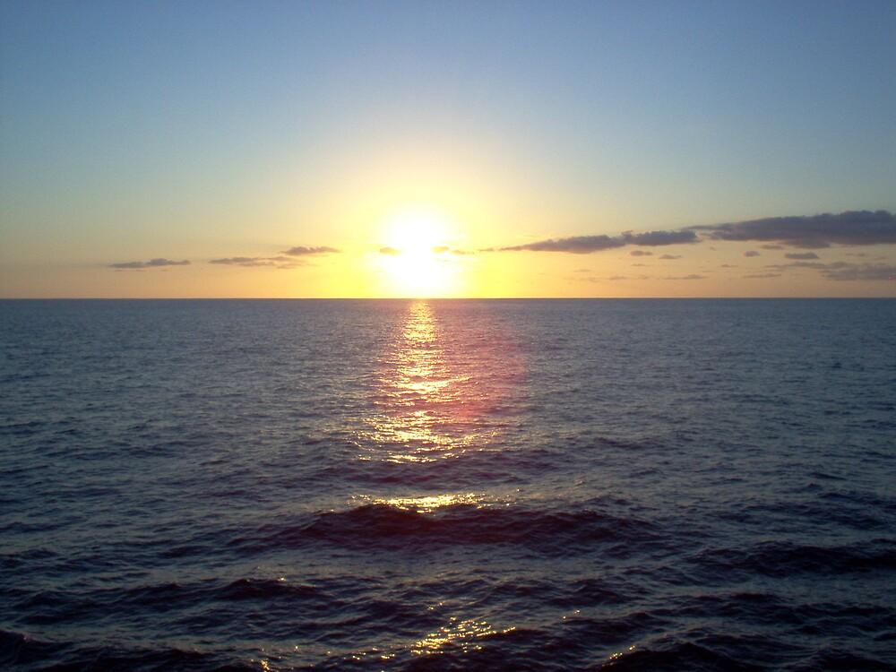 sun set ouver atlantik by Bojan