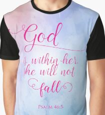 God is Within Her Christian Scripture Art Design Graphic T-Shirt