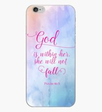 God is Within Her Christian Scripture Art Design iPhone Case