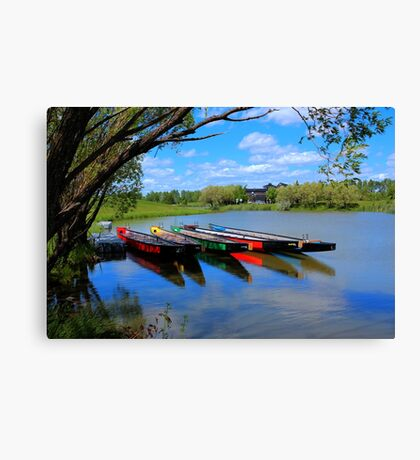 Drag Boats Canvas Print