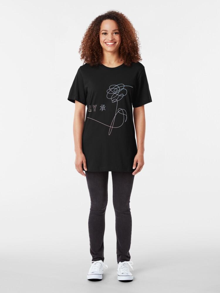 Alternative Ansicht von BTS Liebe dich selbst Slim Fit T-Shirt