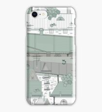 Roofs of an old city with pigeons iPhone Case/Skin