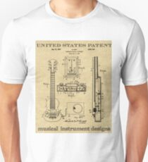 Patent Art of Electric Guitar from 1937 T-Shirt