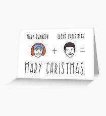 Dumb & Dumber Christmas Card - Mary Christmas Greeting Card