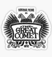 Great Comet of 1812 - Black Sticker