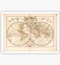 Mappemonde a l'usage du roy (World Map from 1720) Sticker