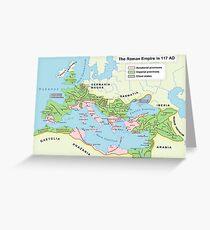 Roman Empire Map Greeting Card