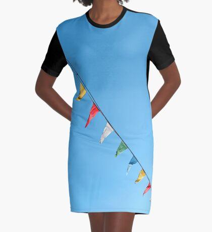 Bunte und minimale Party T-Shirt Kleid