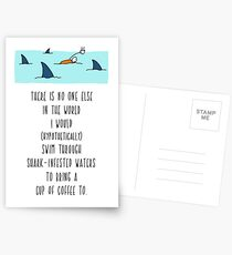 Anniversary Card. Shark Infested Waters Postcards