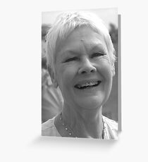 Dame Judi Dench number 2 Greeting Card
