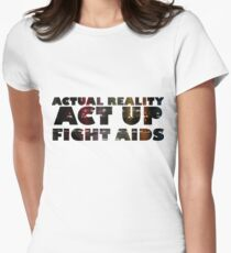 Rent the Musical Quote Fight Aids Women's Fitted T-Shirt