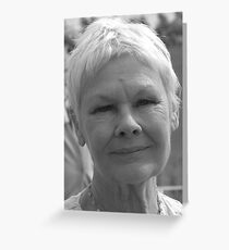Dame Judi Dench number 4 Greeting Card
