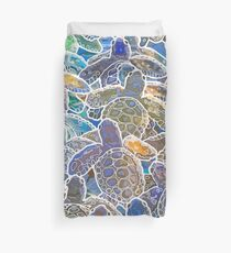 Baby Sea Turtle Hatchlings Duvet Cover