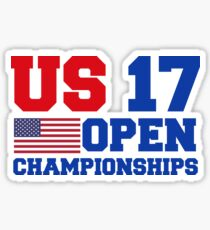 NYC US OPEN 2017 CHAMPIONSHIPS gifts merchandise Sticker