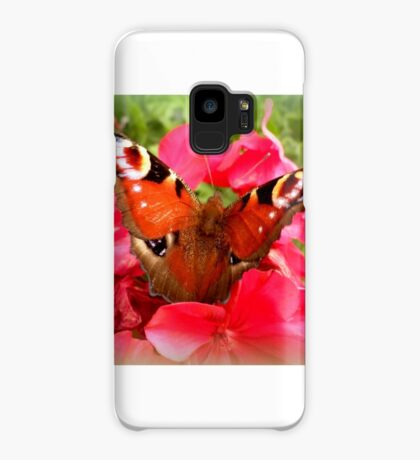 Peacock butterfly on geranium Case/Skin for Samsung Galaxy