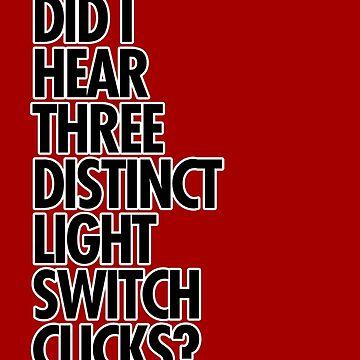 Did I hear three distinct light switch clicks? by sandywoo