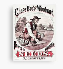 Vintage Chase Bros. & Woodward Seed Advertising Rochester NY Canvas Print
