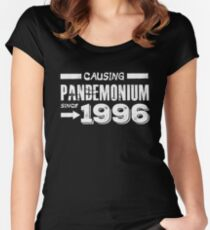 Causing Pandemonium Since 1996 - Funny Birthday Women's Fitted Scoop T-Shirt