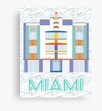 Miami Landmarks - The Berkeley Shore Canvas Print