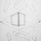 Two Point Perspective: Boxes by enelyawolfwood