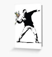 Flower man - Street art Greeting Card
