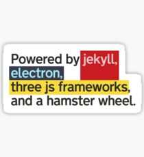 Powered by jekyll, electron, three js frameworks, and a hamster wheel. Sticker