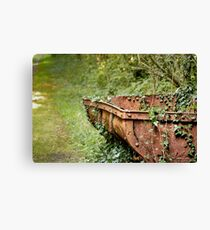 Rusted mining cart Canvas Print
