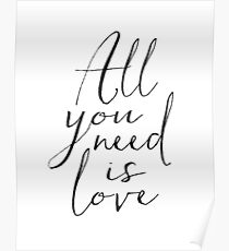 Love Is All You Need Love Sign Printable Art Typography Print Inspirational Print Gift For Her Anniversary gift Engagement Print Quotes Poster