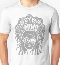 Open Your Mind in Gray T-Shirt