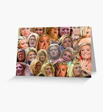 THE MANY MOODS OF GEMMA COLLINS  Greeting Card