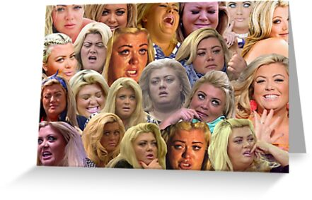 The Many Moods Of Gemma Collins Greeting Cards By Bespoke Ezz