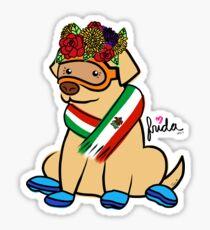 Frida Flowers Flag Sticker