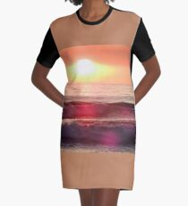Sunset in Oregon Graphic T-Shirt Dress