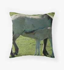 KONIK MARE AND COLT Throw Pillow