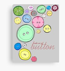 Cute as a Button Canvas Print