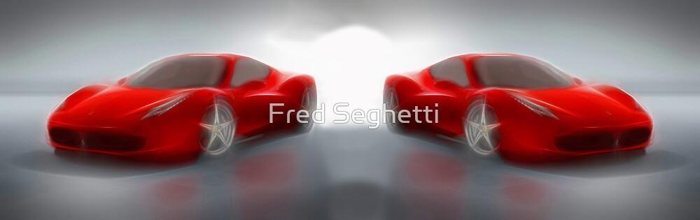 Abstract Twin Ferrari 458 Italia by Fred Seghetti