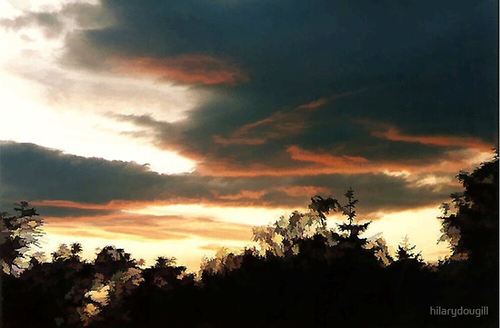 Sunset with threatening storm by hilarydougill