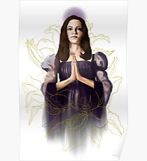Saint Drusilla With Lilies Poster