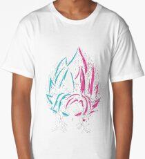 Super Saiyan Blue and Super Saiyan Rose Long T-Shirt