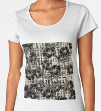 Woven check with floral overlay Women's Premium T-Shirt
