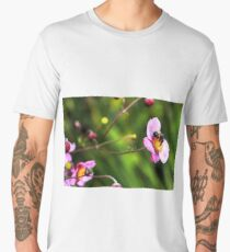 Japanese Anemone And A Bee Men's Premium T-Shirt